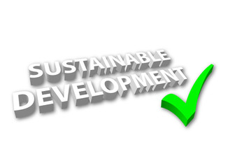 Sustainable Development (3D - with Tick)