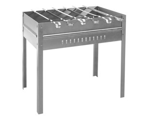 Barbecue appliance with skewer