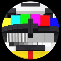 TV test card 3d front view