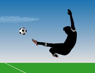 Soccer Kick Airborne