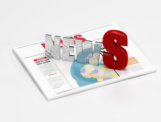 news logo on newspaper