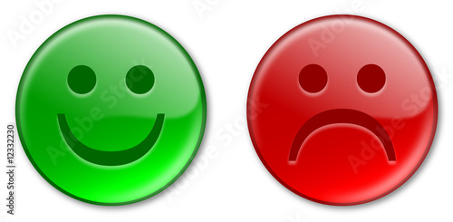 Happy Sad Emoticon Buttons Stock Photo And Royalty Free Images On