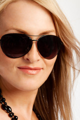 Blond lady in sunglasses