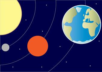 Garden Poster Cosmos Part of the solar system