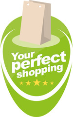 Perfect shopping vector sign