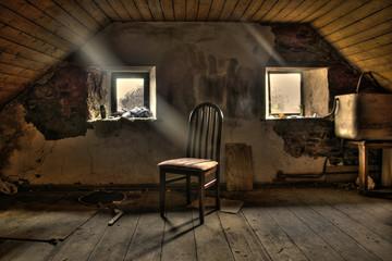 Obraz Stary strych - fototapety do salonu