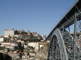 Puente de Dom Luis en Oporto (Portugal)