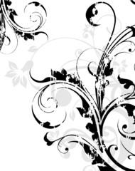 multi floral grunge noir