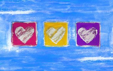 Herz Triptychon extrovertiert