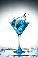 blue coctail splash