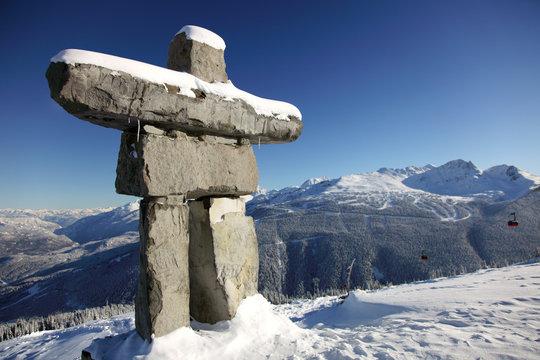 Alpine Inunnguac and Blue Sky