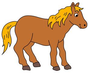 Garden Poster Pony horse