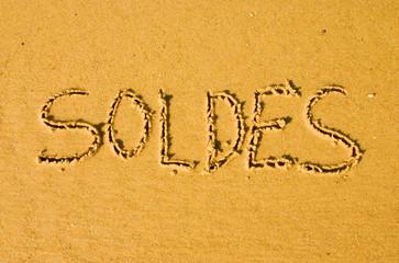 soldes dans le sable