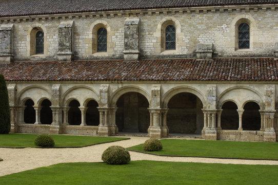 France, Bourgogne, cloître de l'abbaye de Fontenay