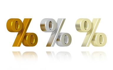 Percent Symbol - Precious Metals