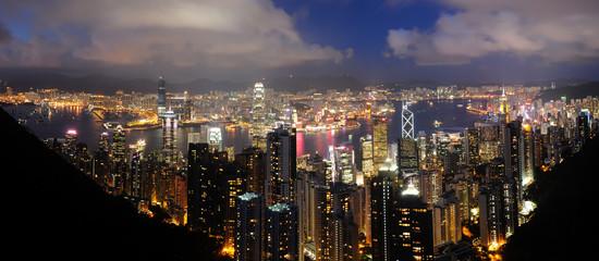 Foto op Aluminium Hong-Kong Hong Kong Night View from The Peak