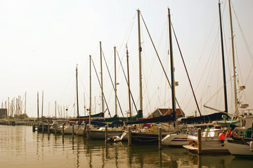 yachts on the seaside