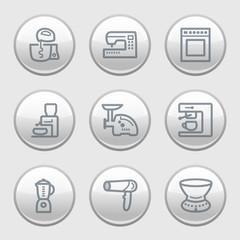 Gray disk web icons, set 19