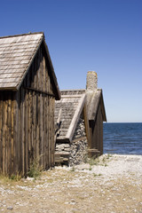 Fisching house on Gotland, Sweden.