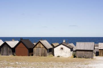 Fishing village on Gotland, Sweden.