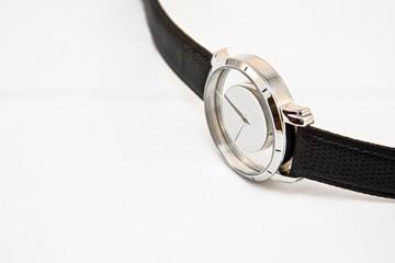 luxury wrist watch on white background