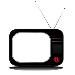 retro television coloured with antenns