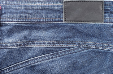 Blue jeans in close-up