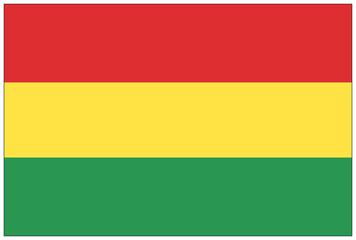 Fahne: Bolivien/ flag: Bolivia