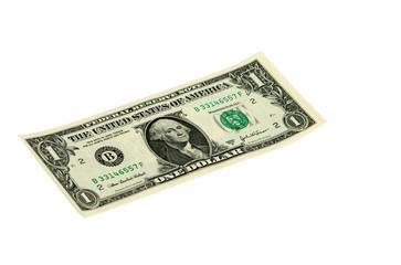 One dollar isolated on white background