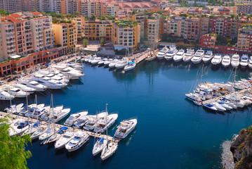 Marina of Monte Carlo in Monaco