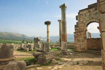 the ruins of Volubilis Capitol