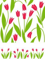 Floral tulip background