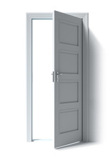 Door open to white space