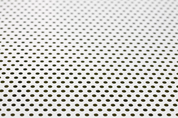 Silver-steel mesh background.