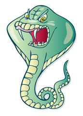 Illustration of cartoon cobra snake