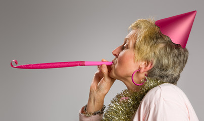 Pink party blower