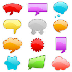colorful talk bubbles