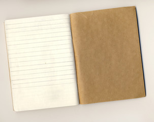 Notebook turn on a white background