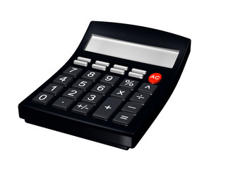 3d business calculator on white background