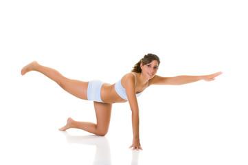Fitness yoga exercise