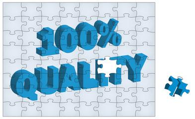 """""""100% Quality"""" Jigsaw"""