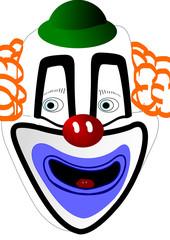 Masque du clown blanc