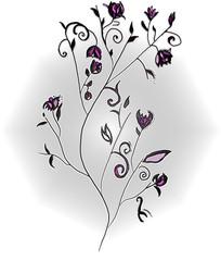 rysowany wzór kwiatowy