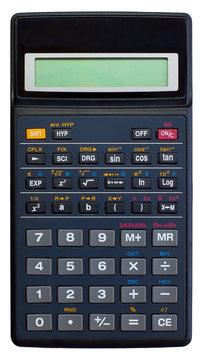 Scientific calculator isolated on white