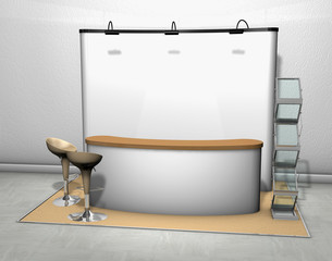 trade show counter display