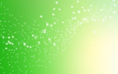 Fond abstrait étoiles blanches sur dégradé vert