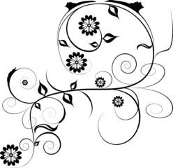 black and white design ornament