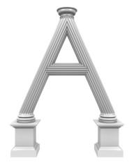 3d rendered illustration of column A shaped