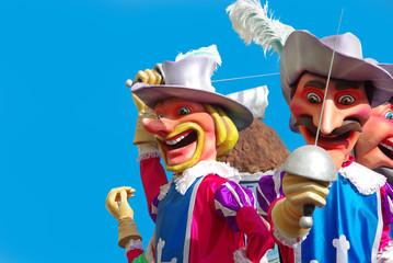les quatre mousquetaires au carnaval
