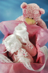baby shoes  in gift box